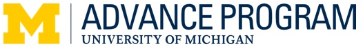 UM ADVANCE Program